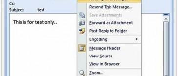 Panggil Semula Email Outlook Yang Dihantar